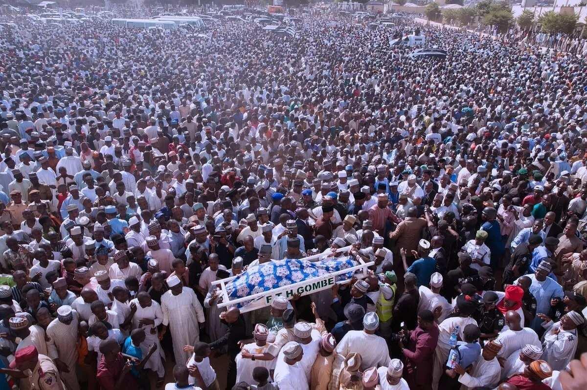 Saraki, other dignitaries pay their final respect to wife of Senator Danjuma Goje (photos)