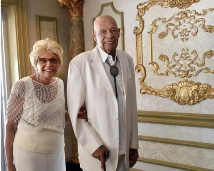 One of the last surviving Afro-American pilots of WWII celebrates 70th wedding anniversary