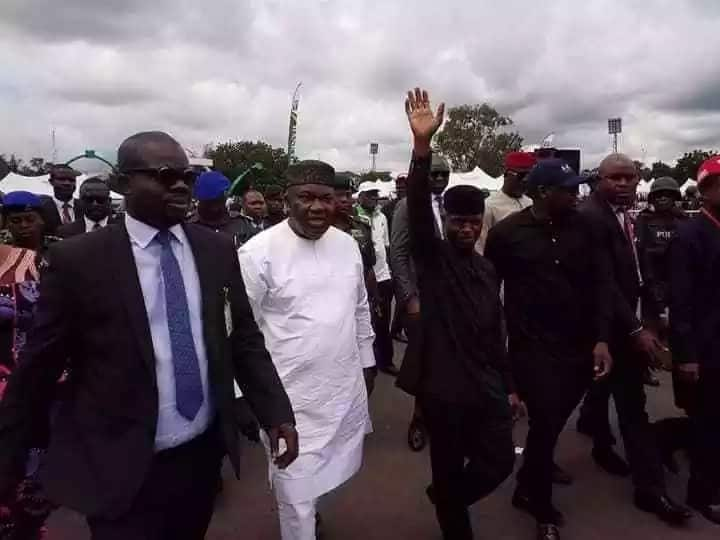 Osinbajo lauds Ugwuanyi on entrepreneurship programmes, says gov deserves warm applause for his great works