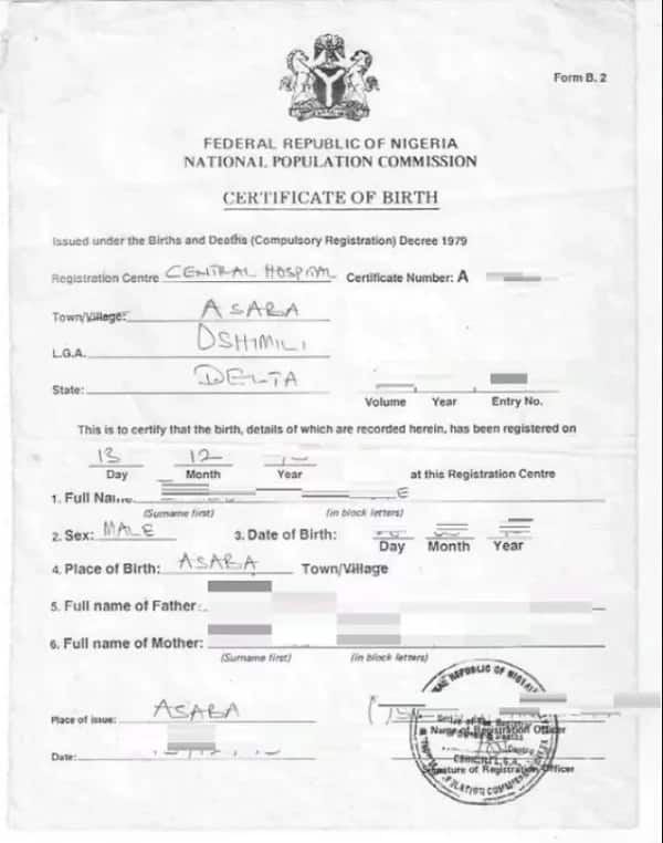 National Population Commission birth certificate obtaining guide