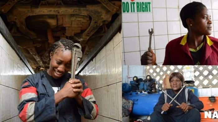 Meet the lady mechanics of Abuja who run garages, have no time for your stereotypes (photos, video)