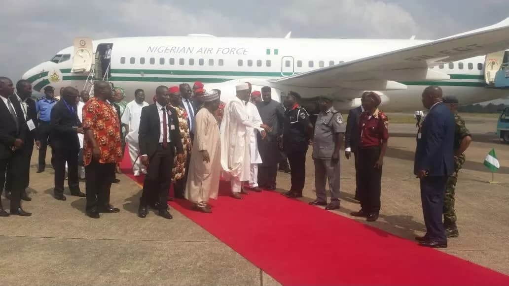 Buhari commissions 700m length of Twin Flyover Bridges from Enugu to Cameroon