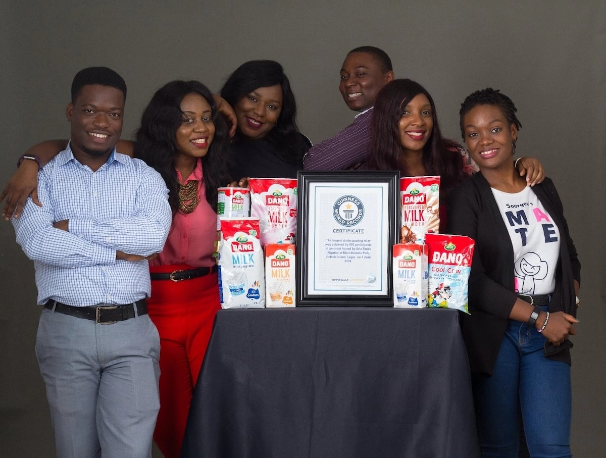 Dano Milk officially enters the Guinness World Records