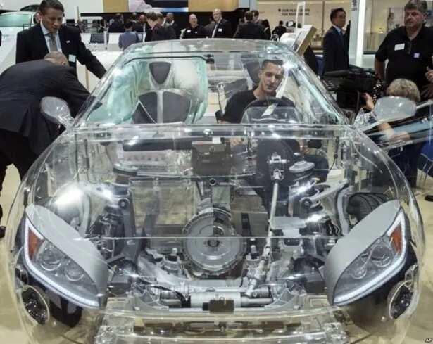 Transparent car roof