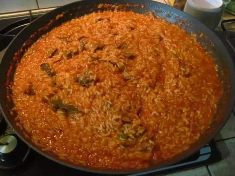 Jollof rice recipe with carrot and green beans