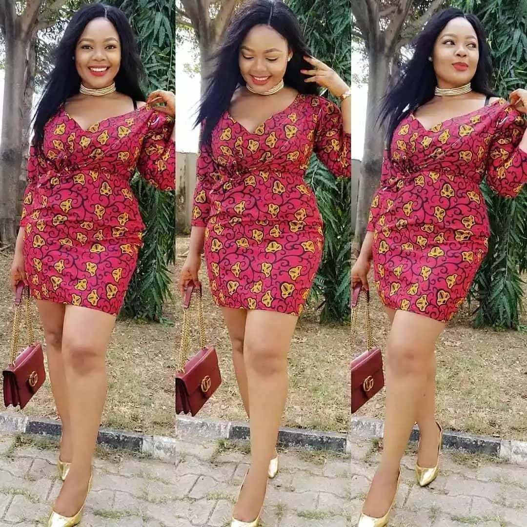 Nigerian beauty in the ankara gown