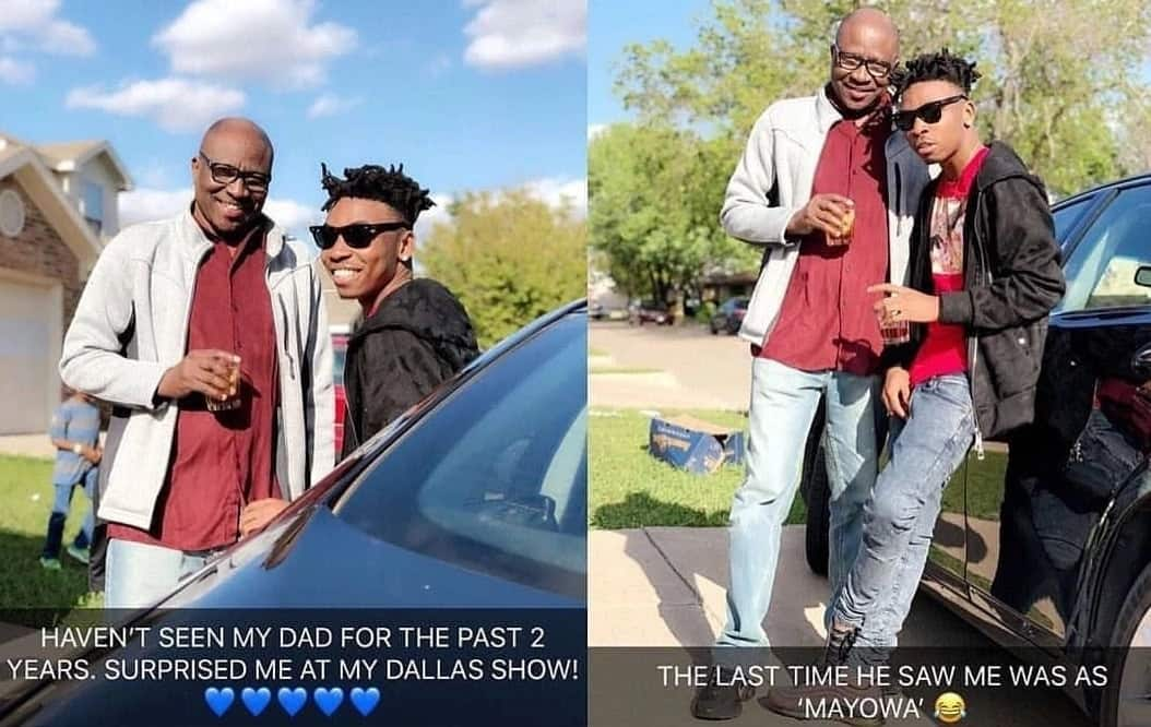 Singer Mayorkun reunites with his father at his show in Dallas (photos)