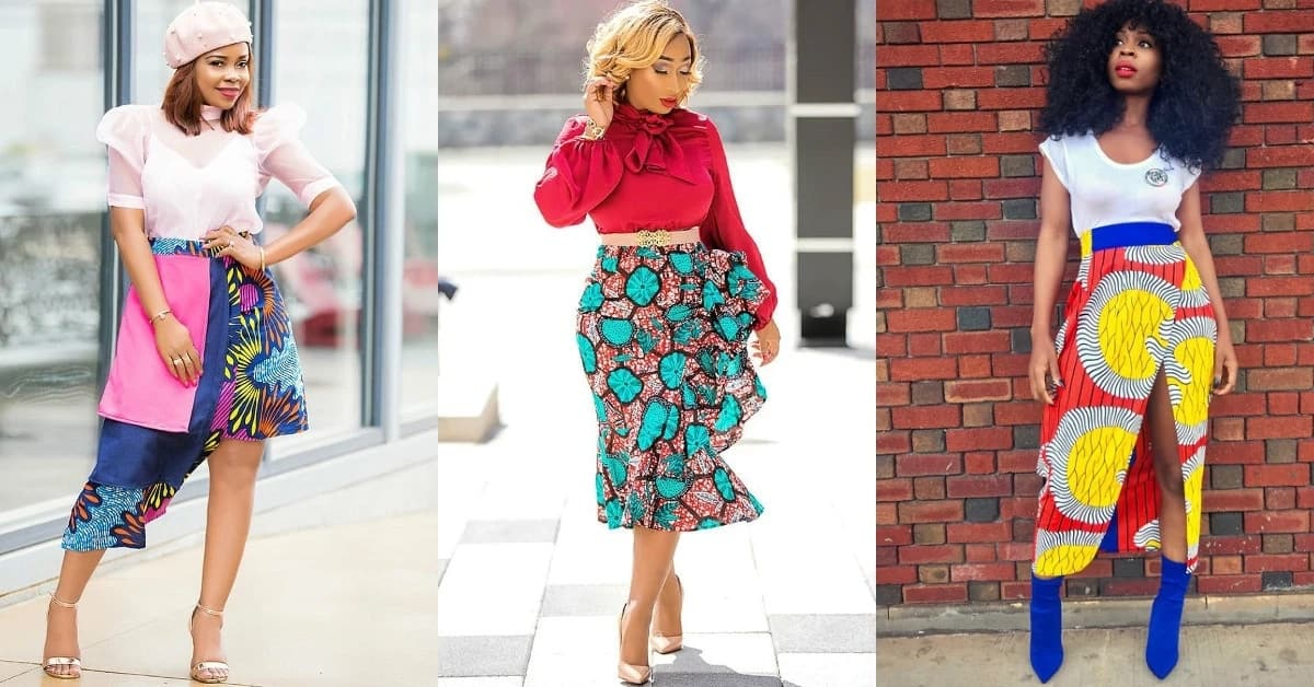 Latest Ankara designs for skirt and blouse for real fashionistas