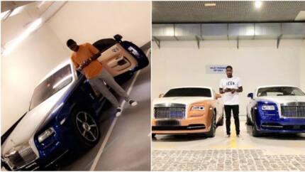 Nigerian striker Brown Ideye buys himself a Rolls Royce Wraith to celebrate as he clocks 30 (photos)