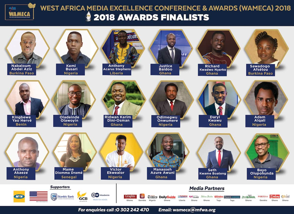 Legit.ng's Editor-In-Chief, 17 others shortlisted for West Africa Media Award