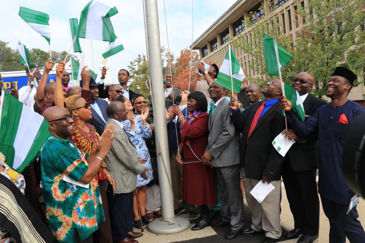 Nigerian flag hoisted in US council secretariat for Independence Day celebration