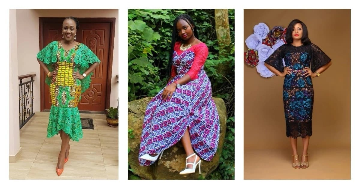 Ankara dresses with lace that are popular this season
