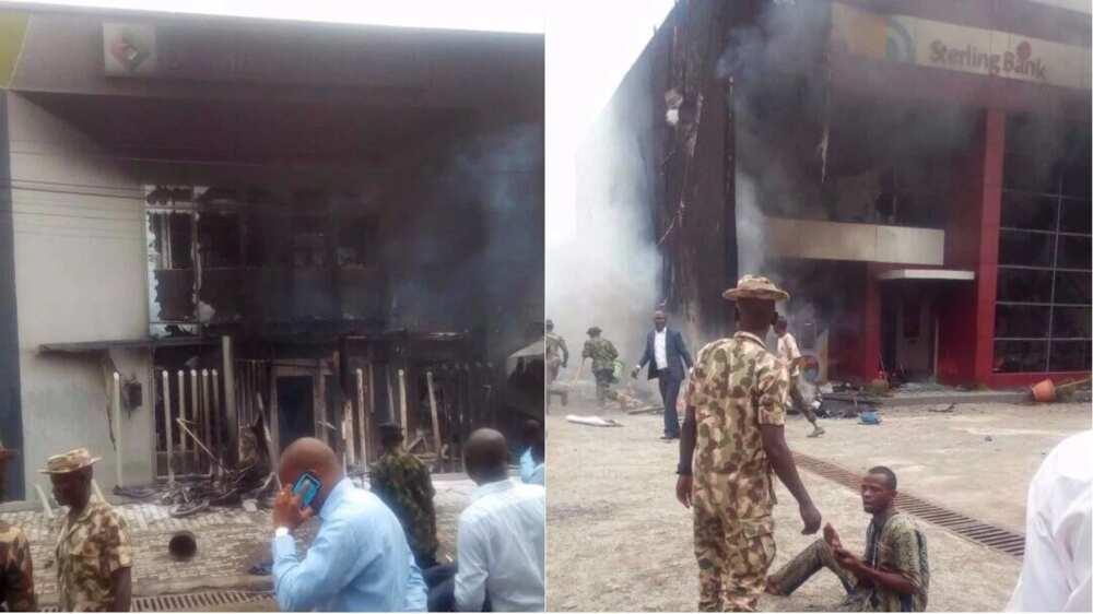 BREAKING: Riot rocks Apapa as policeman shoots tanker driver dead (photo)