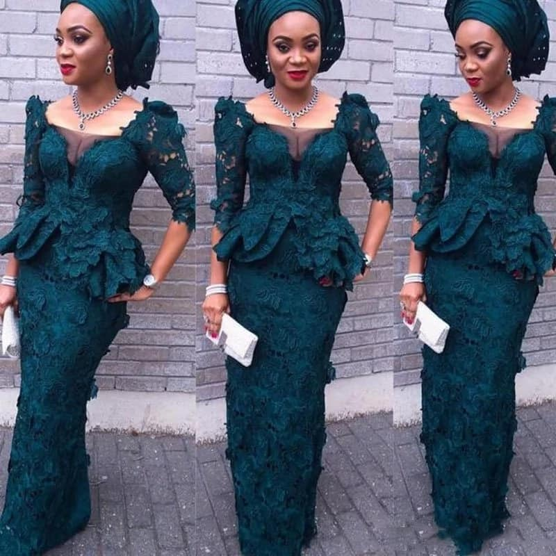 Latest Aso Ebi styles with 3D effect