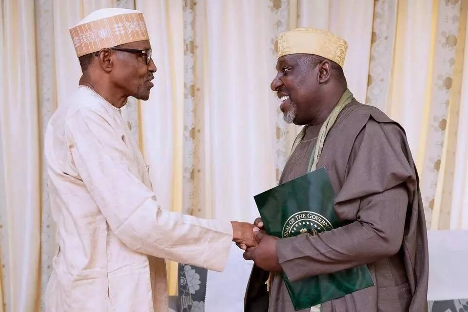 President Buhari receives Governor Okorochas, others in Daura (Photos)
