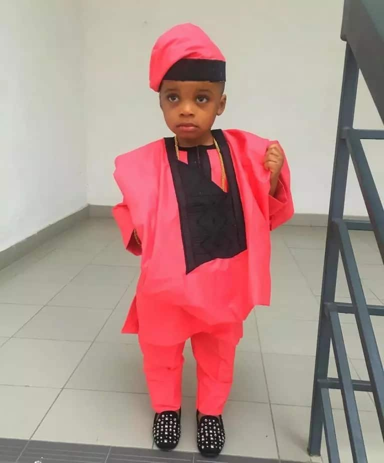 Baby boy Agbada Style