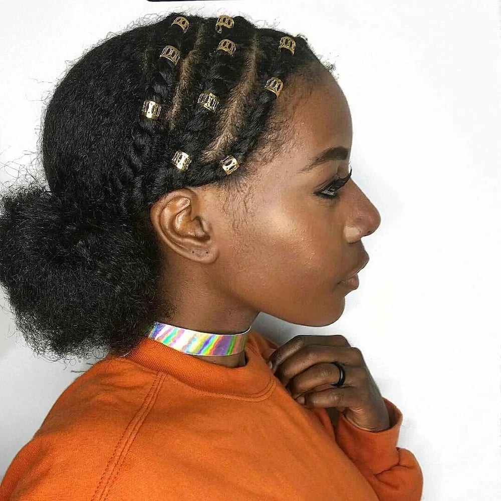 Packing gel hairstyle for short hair