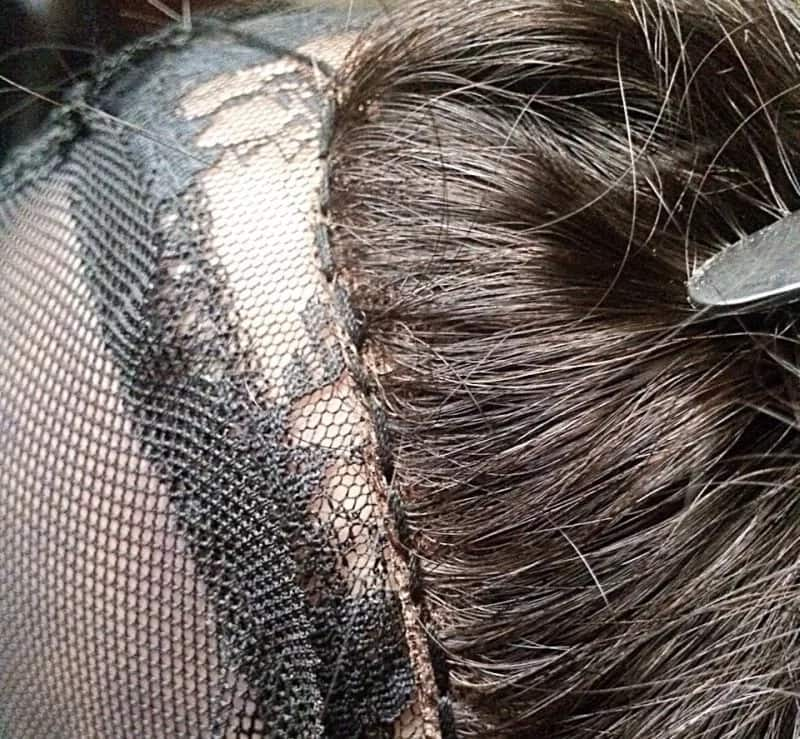How to make wig with closure: stitches