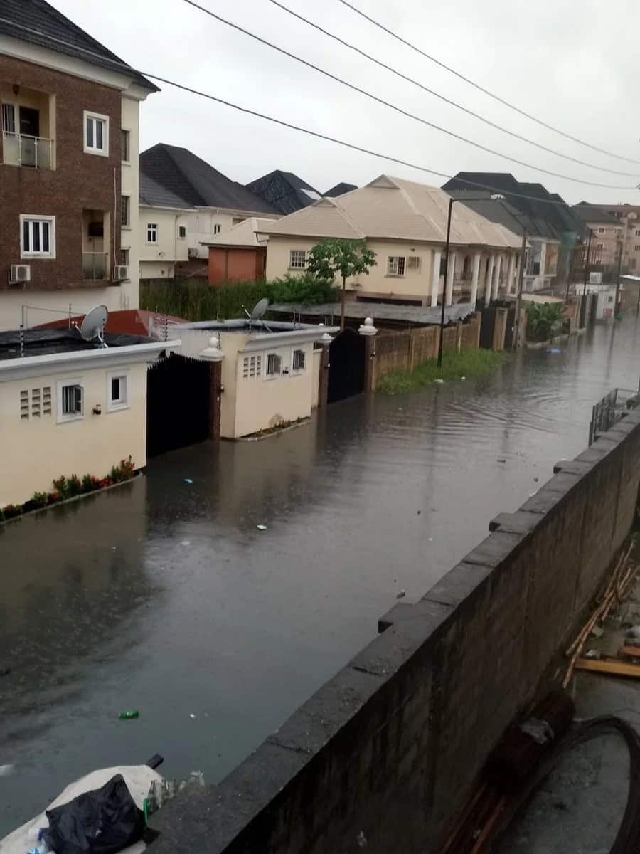 Floods consume Lekki road as Lagos, submerge houses in Bayelsa after downpour
