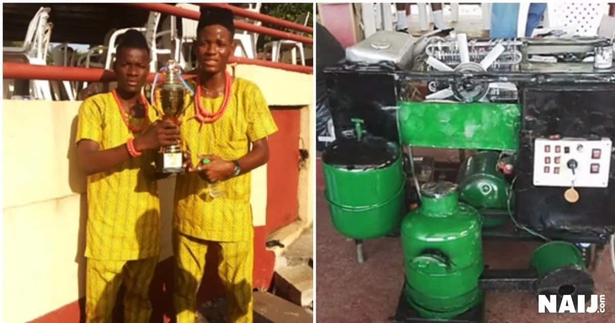 Two young Anambra-based inventors construct washing machine
