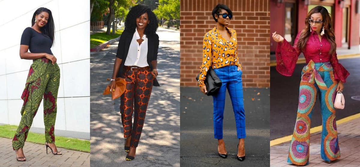 Trousers with ankara patterns are for all occasions