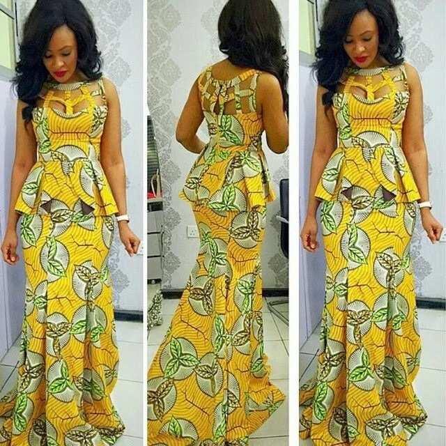 Yellow dress for wedding