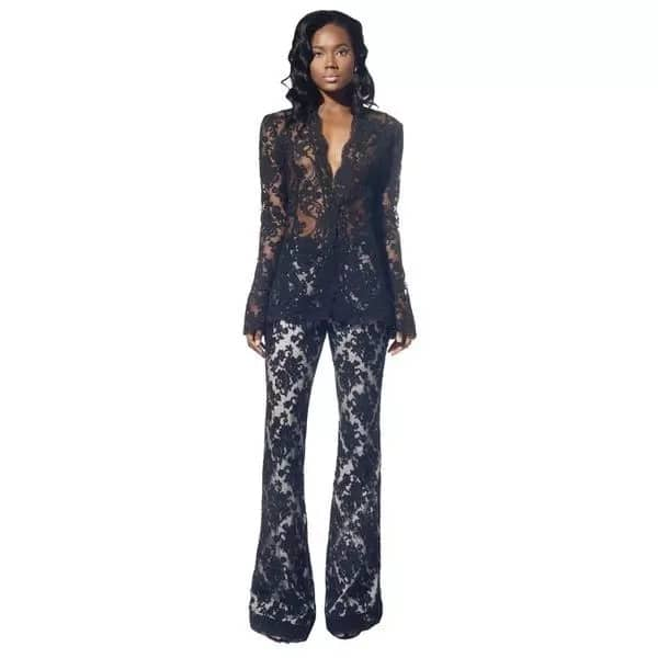 French lace suit