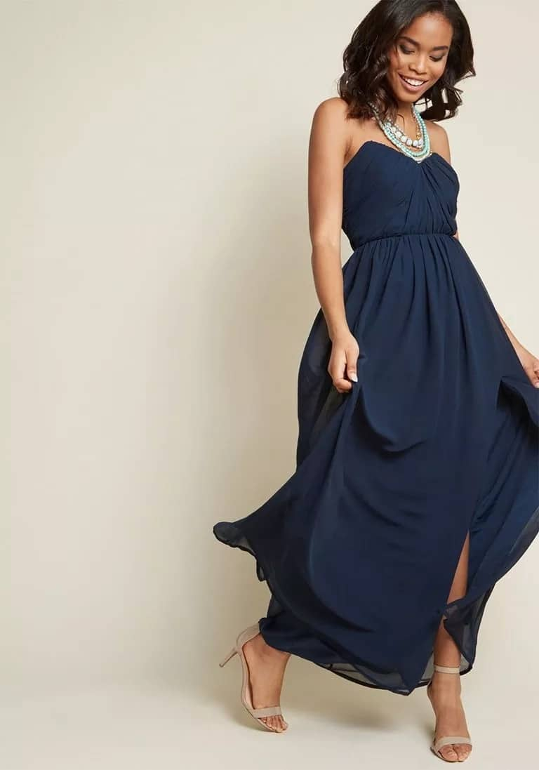 Chiffon gown in a Greek style