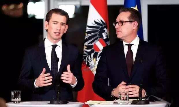 Sebastian Kurz, new chancellor(left) and Heinz-Christian Strache, new vice-chancellor. Photo credit: Xinhua/Rex/Shutterstock