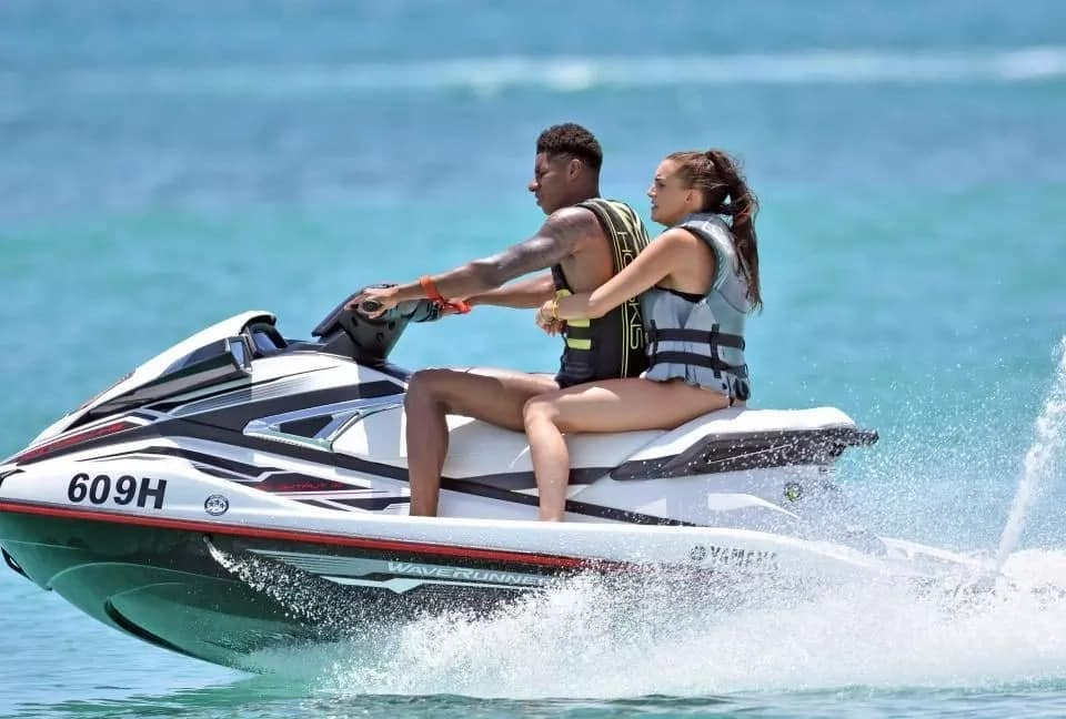 Marcus Rashford relishes Barbados holiday with stunning girlfriend after World Cup duties