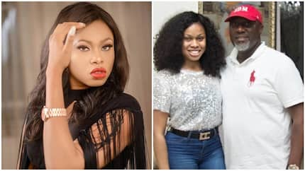 After sharing photo of her with Dino Melaye, BBNaija star slams fan who accused her of sleeping with politicians