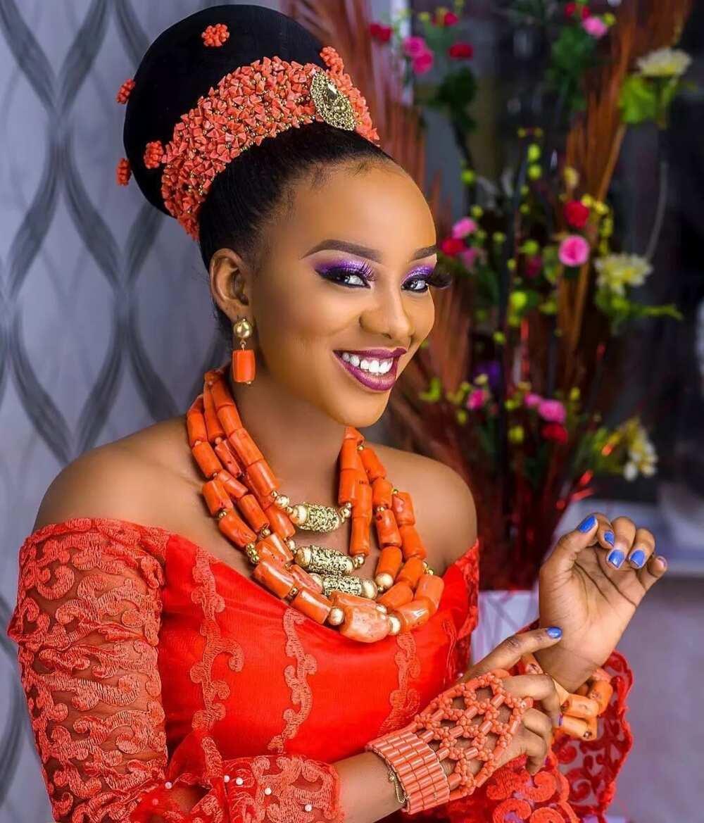 Type of Igbo bride dressing