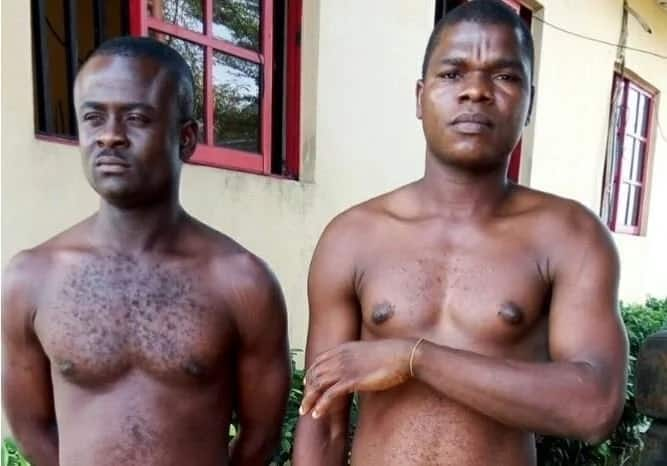 The men were arrested by police officers in Port Harcourt, Rivers state. Photo credit: The Nation