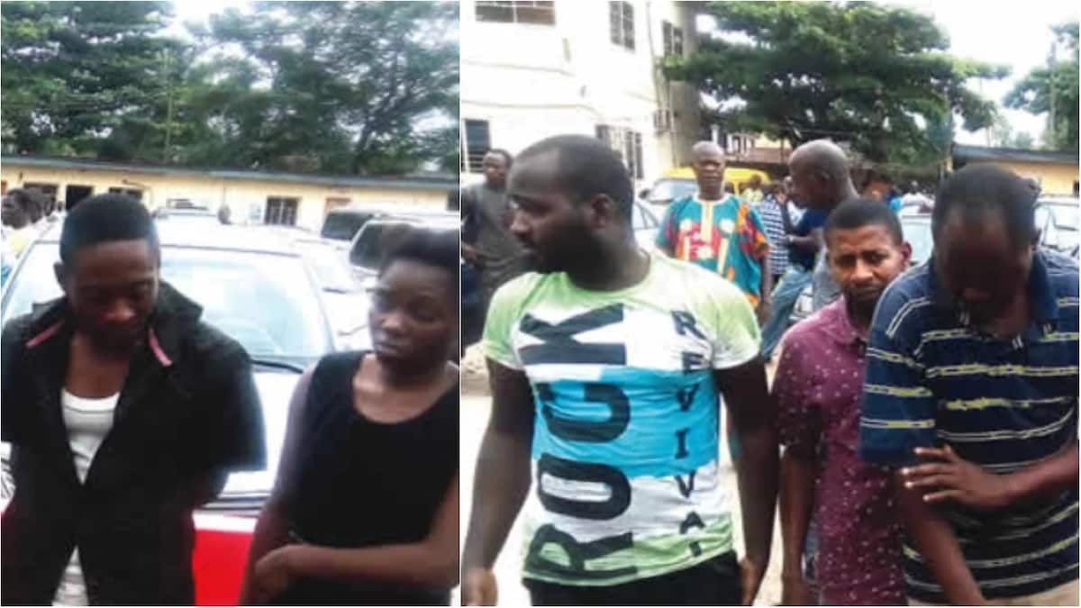 The suspects paraded by the police. Photo source: The Punch