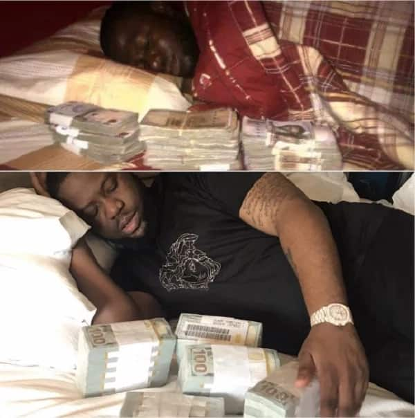 Ray Hushpuppi with money