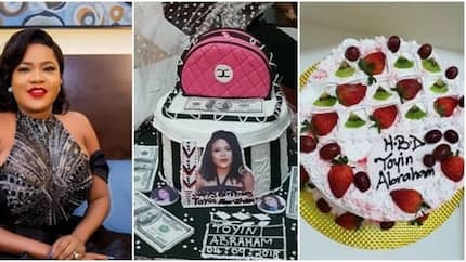 Toyin Abraham excited as she shows off cakes and gifts she got from fans on her birthday (photos)