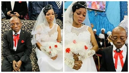 Photos of bride looking sad on her wedding day go viral on the internet