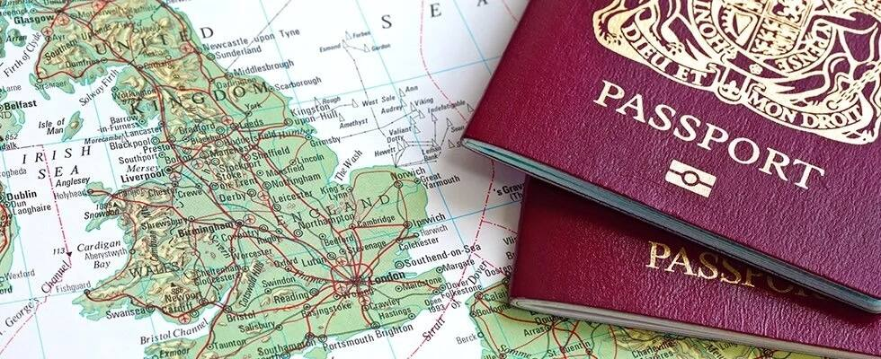 England and passports