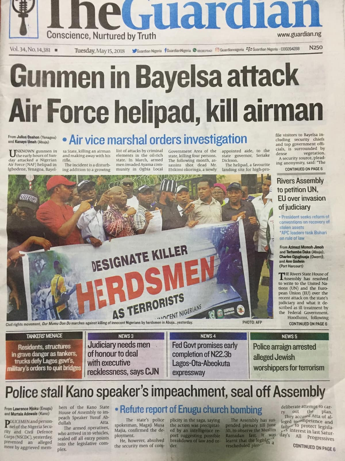Gunmen in Bayelsa attack Air Force helipad, kill airman