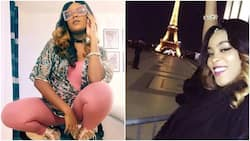 Singer Emma Nyra spotted in Paris with massive baby bump, vacations with her future baby daddy (photo)