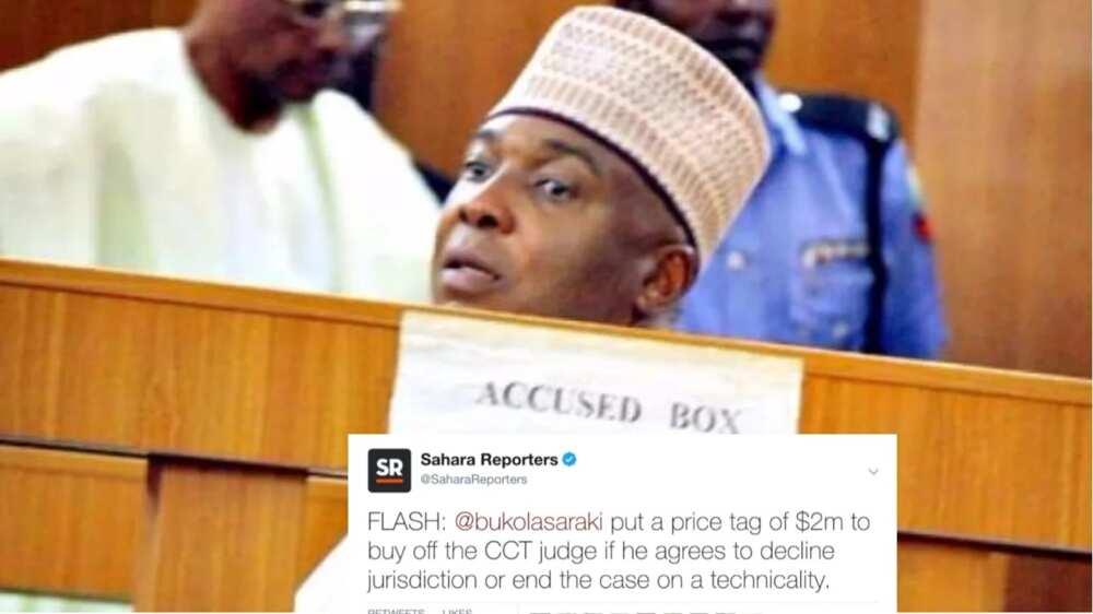 Sahara Reporters has reiterated their allegation that senate president Bukola Saraki bribed Code Of Conduct Tribunal judge