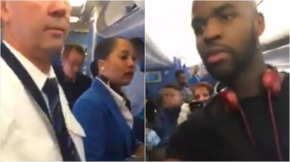 Nigerians flying from Amsterdam to Lagos stop the deportation of a Nigerian in handcuffs (photos, video)