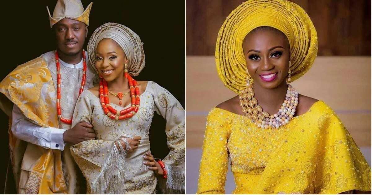 Aso Oke for Yoruba traditional wedding
