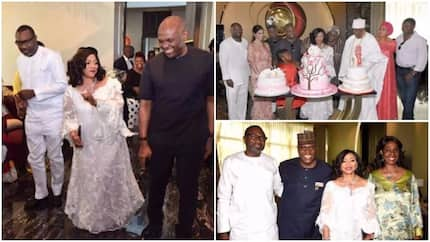 See Nigerian billionaires dancing at Folorunso Alakija's 66th birthday thanksgiving (photos)