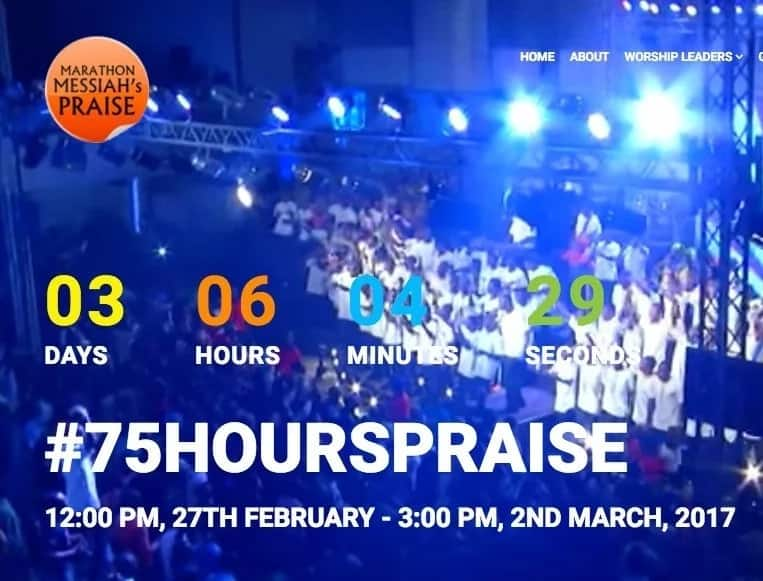 7 things you should know about 75 hours praise in honour of Pastor