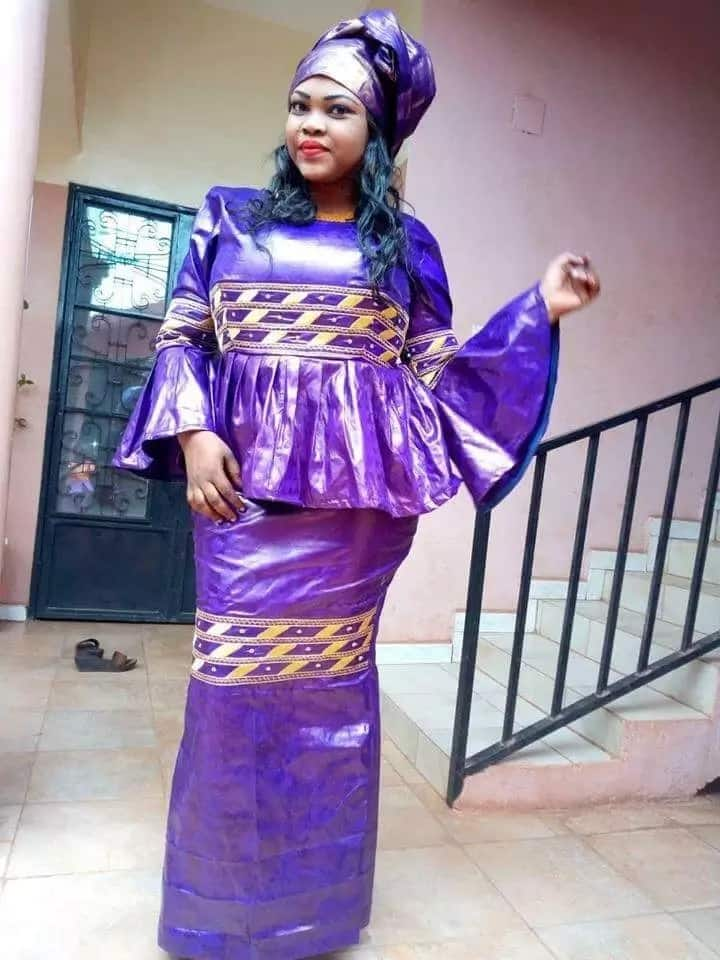 Violet guinea blouse and skirt