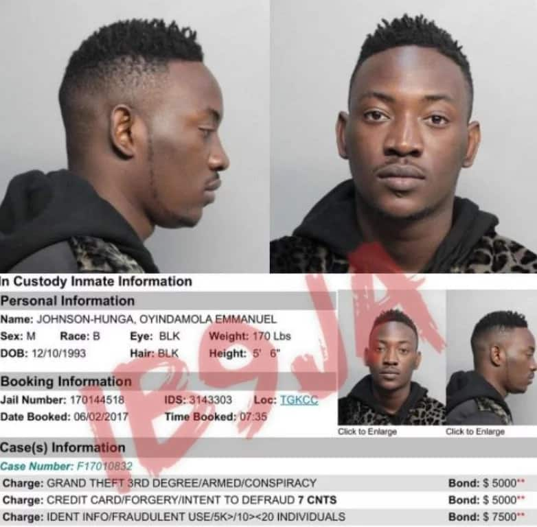 Breaking: Nigerian singer, Dammy Krane arrested for credit card theft and fraud (photos)