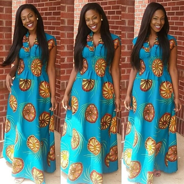 Beautiful Ankara maxi dresses for real fashionistas ▷ Legit.ng 415571903