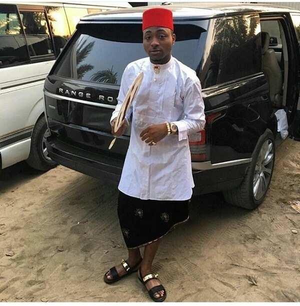 Davido in Igbo cultural dressing