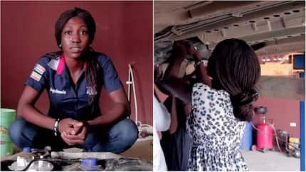 Meet Sofela Ayotunde, the lady who is changing people's perception about female mechanics (photos)